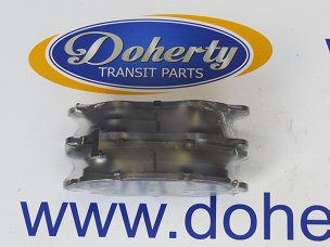 A set of ford transit front brake pads to suit front wheel drive vans from | 2000 - 2006 | Less 330, 350 Models