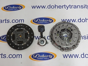 Ford transit 3 piece clutch kit to suit all front wheel drive vans from[2000-2006]Slave Cylinder Included/Solid Clutch